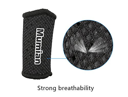 Sports Elastic Finger Sleeves Support Thumb Brace Protector Breathable Elastic Finger Tape for Basketball, Tennis,Baseball, Cycling, Volleyball, Badminton, Boating A71 BK-S