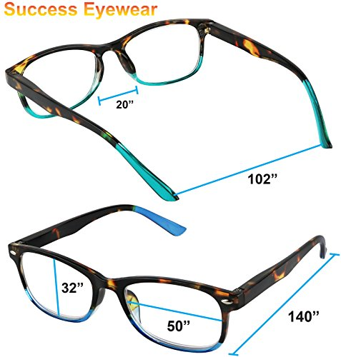 Reading Glasses Set of 3 Great Value Spring Hinge Readers Men and Women Glasses for Reading +2.5