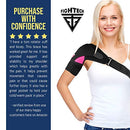 Image of FIGHTECH Shoulder Brace for Men and Women | Compression Support for Torn Rotator Cuff and Other Shoulder Injuries | Left or Right Arm (Black, Large/X-Large)