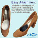 Image of Chiroplax High Heel Cushion Inserts Pads (4 Pairs) Suede Ball of Foot Forefoot Metatarsal Anti Slip Shoe Insoles for Women (Beige+Black, Normal Thickness)