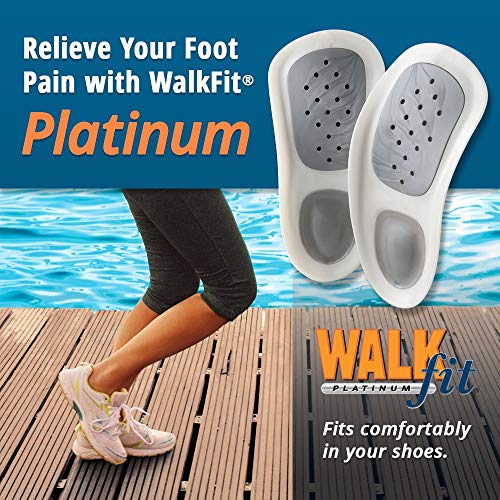 WalkFit Platinum Foot Orthotics Plantar Fasciitis Arch Support Insoles Relieve Foot Back Hip Leg and Knee Pain Improve Balance Alignment Over 10 Million Sold Men 5-5.5 / Women 6-6.5