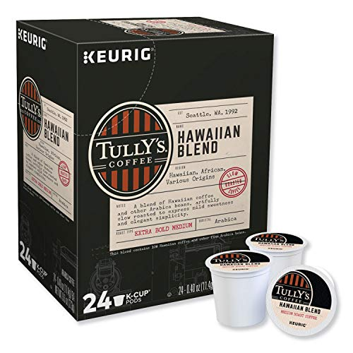 Tully's Coffee Hawaiian Blend, Single Serve Keurig K Cup Pods, Dark Roast Coffee, 96 Count