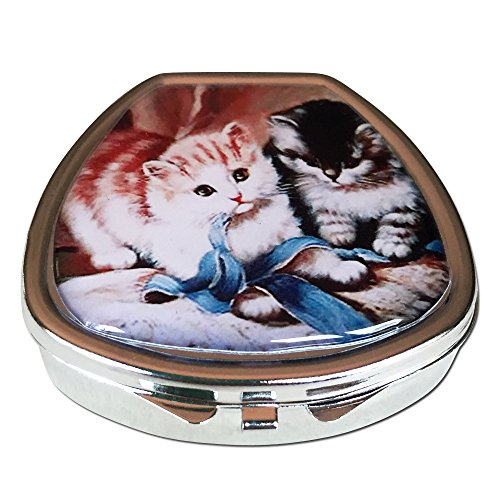 Playful Kittens Pocket/Purse/Travel Pill Box