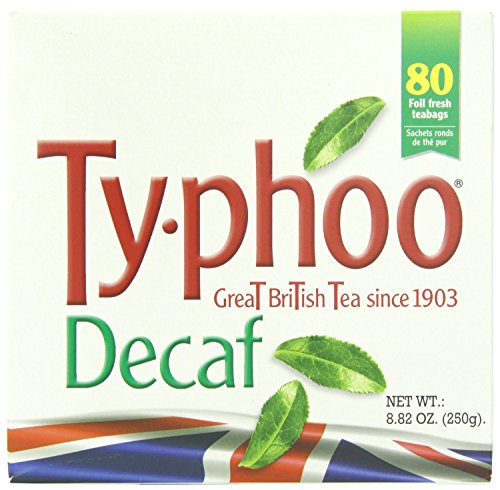 Typhoo  British Tea, Decaf, Foil fresh teabags, 80 Count
