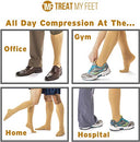 Image of Knee High Compression Socks For Women & Men, 15 20 Mm Hg   Edema Pain Relief   Nurse, Travel, Pregnan