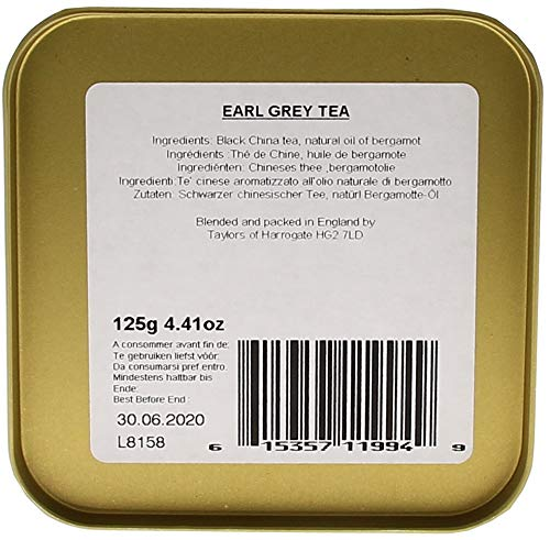 Taylors of Harrogate Earl Grey Loose Leaf, 4.41 Ounce Tin