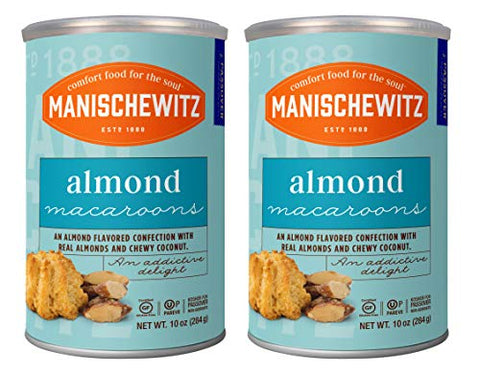 Manischewitz Macaroon Almond, Kosher For Passover, 10 Ounce Canister (Pack of 2, Total of 20 Oz)