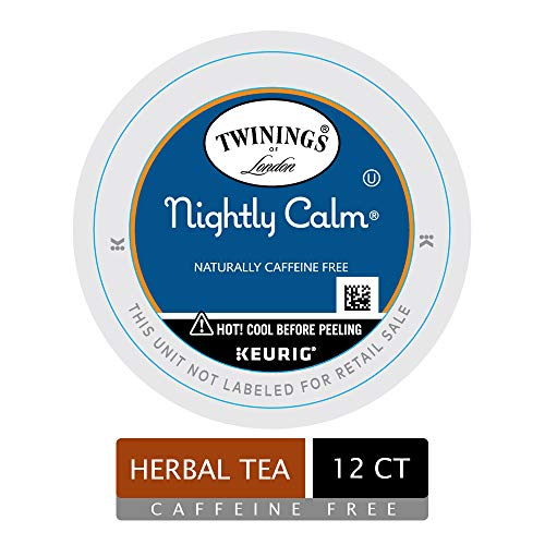 Twinings of London Nightly Calm Tea K-Cups for Keurig, 12 Count