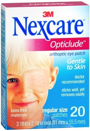 Nexcare Opticlude Orthoptic Eye Patches Regular 20 Each (Pack of 2)