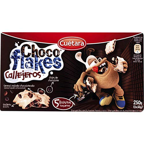 Cuetara - Choco Flakes Chocolate Cookies - 5 x 8.81oz / 250gr (pack of 5)