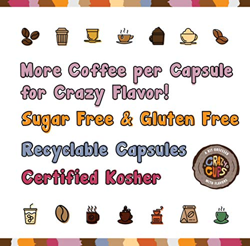 Crazy Cups Flavored Coffee For Keurig K Cup Machines, Death By Chocolate, Hot Or Iced Drinks, 22 Sin
