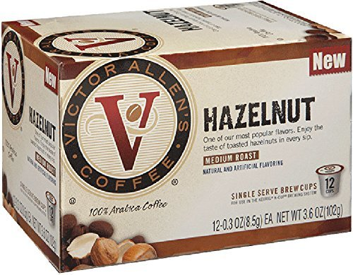 Victor Allen's Coffee 12-Count Single Serve Cup for Keurig K-Cup Brewers Hazelnut, Medium Roast, 12 Count