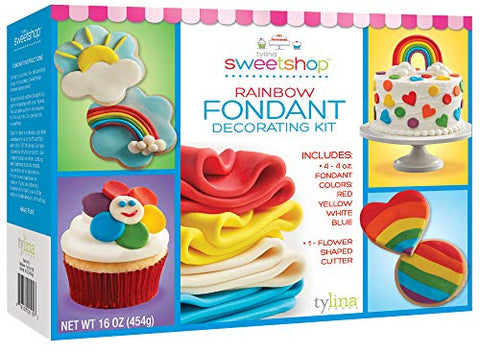 Rainbow Fondant Decorating Kit