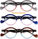 Image of Reading Glasses 3 Pairs Fashion Springe Hinge Readers Glasses for Reading Men and Women +1.75
