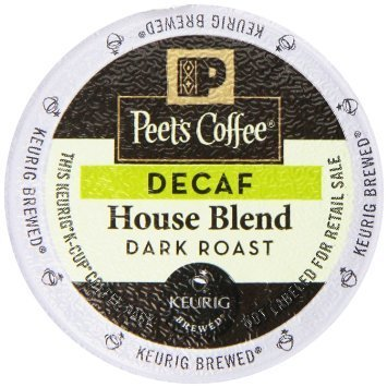 Peet's Coffee Decaf House Blend Single Cup Coffee for Keurig K-Cup Brewers 40 count
