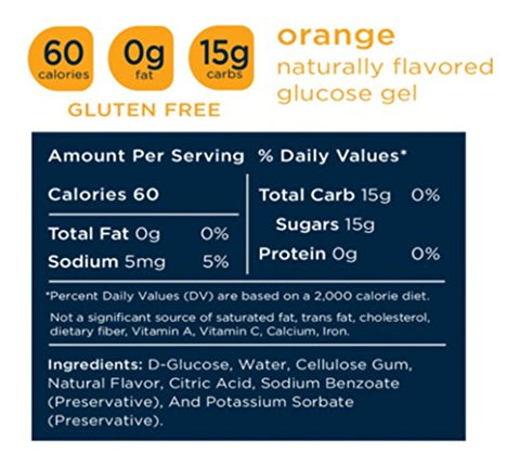 Transcend 15g Orange Glucose Gels in 3-Packs (3)