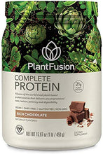 PlantFusion Complete Plant Based Pea Protein Powder, Non-GMO, Vegan, Dairy Free, Gluten Free, Soy Free, Allergy Free w/Digestive Enzymes, Dietary Supplement, Chocolate, 15.87 Ounce (Pack of 1)