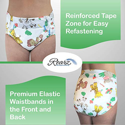 Rearz - Safari - Adult Diaper (Sample 2 Pack) (Medium, 32'' - 40'')