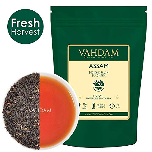 Assam Black Tea Leaves (200+ Cups) I Strong, Malty & Rich I 100% Pure Unblended I Single Origin Blac