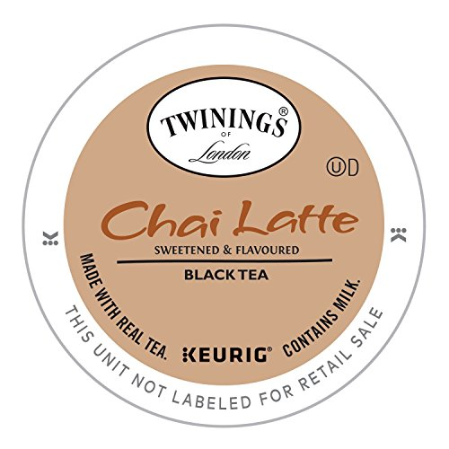 Twinings of London Chai Latte Tea K-Cups for Keurig, 24 Count (Pack of 1)