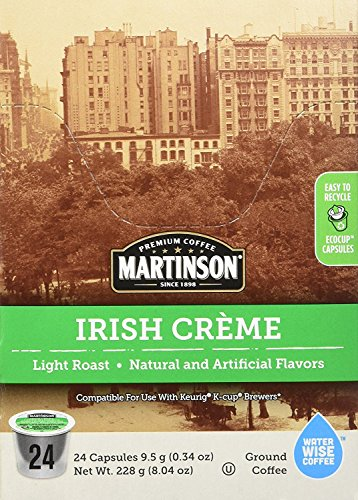 Martinson Single Serve Coffee Capsules, Irish Creme, Compatible with Keurig K-Cup Brewers, 24 Count