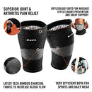 Image of Mava Sports Reflexology Knee Compression Sleeve For Men And Women   Effective Support For Joint Pain