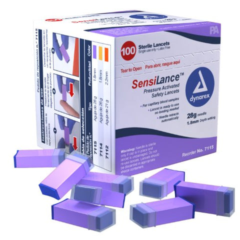 SensiLance Safety Lancets Press Activated Sterile - 28 gauge (4 BOXES OF 100)