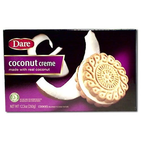 Dare Foods Coconut Creme Cookie, 12.3 Ounce -- 12 per case.