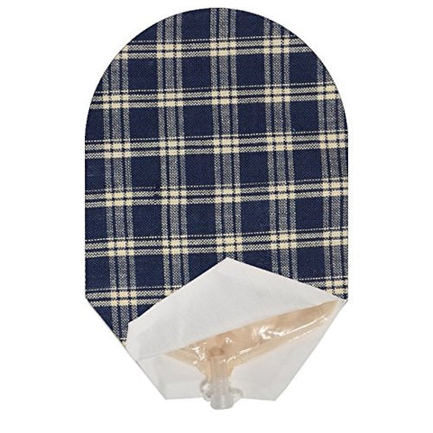 Blue Plaid Pouch Cover Open Ended