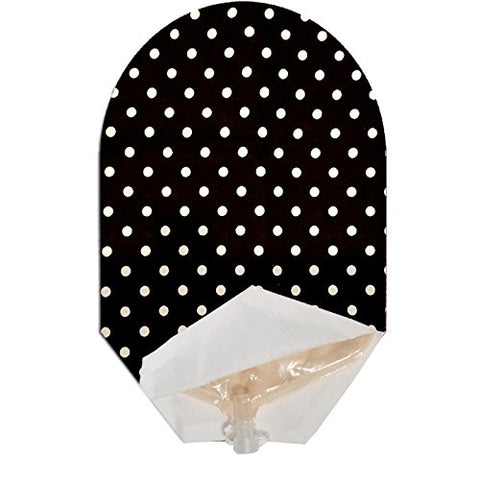 Black & White Polka Dot Pouch Cover Open Ended