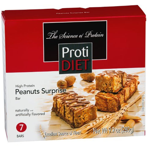 ProtiDiet High Protein Bar - Peanut Surprise (7 Servings/Box)