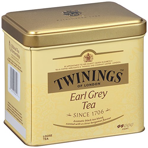 Twinings of London Earl Grey Loose Tea Tins, 7.05 Ounces (Pack of 6)
