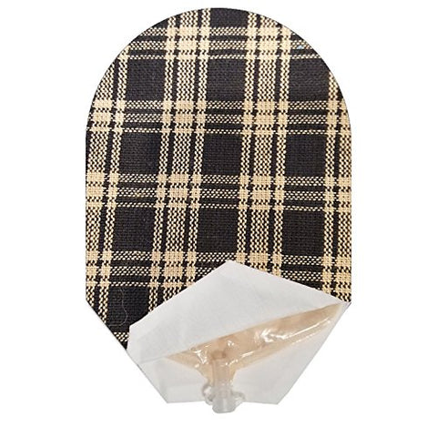 Black Plaid Pouch Cover Open Ended