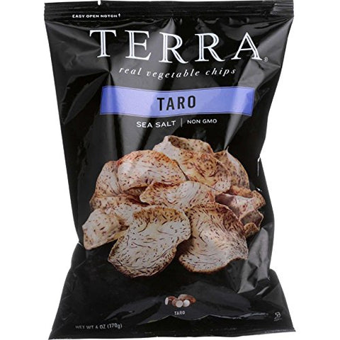 TERRA Taro Vegetable Chips with Sea Salt, 6 oz. (Pack of 12)