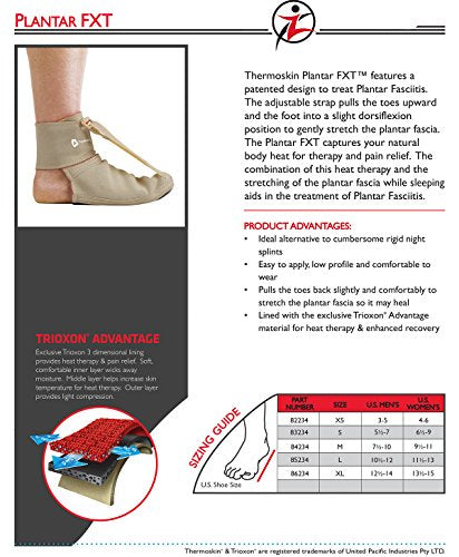 Thermoskin Night Time Relief for Plantar Fasciitis Plantar FXT, Large