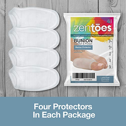 ZenToes Bunion Guards Gel Shields 4 Pack Cushions and Protects