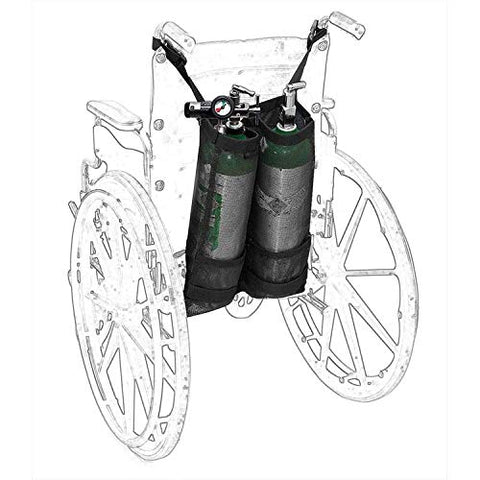 Wheelchair Oxygen Cylinder Bag - O2 Tank Carrier Backpack Holder for