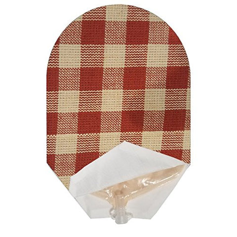 Red Plaid Pouch Cover Open Ended