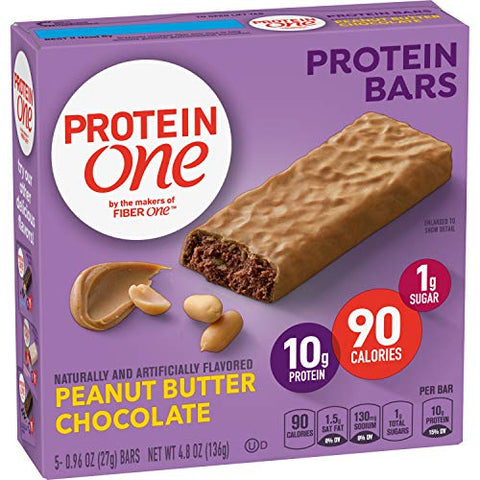 Protein One 90 Calorie Protein Bar, Peanut Butter Chocolate, 4.8 oz(us)