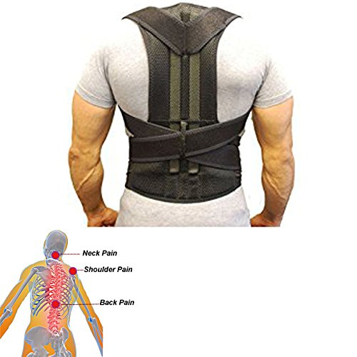 Back Support Belt- Posture Corrector for Men and Women- Adjustable Back Brace Strap Breathable Mesh- Back Pain Relief (XL)