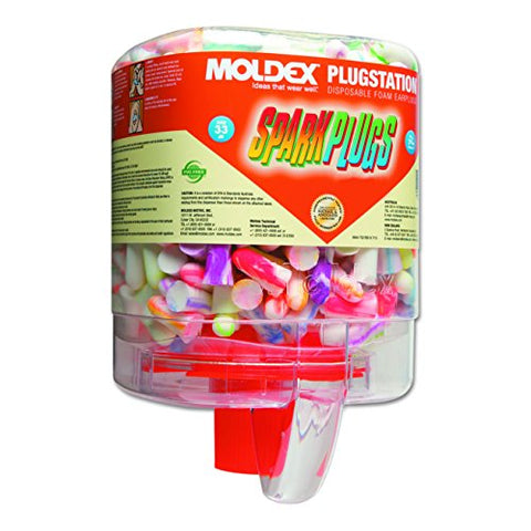 Moldex PlugStation SparkPlugs Curved Shape Foam Dispenser with Earplugs
