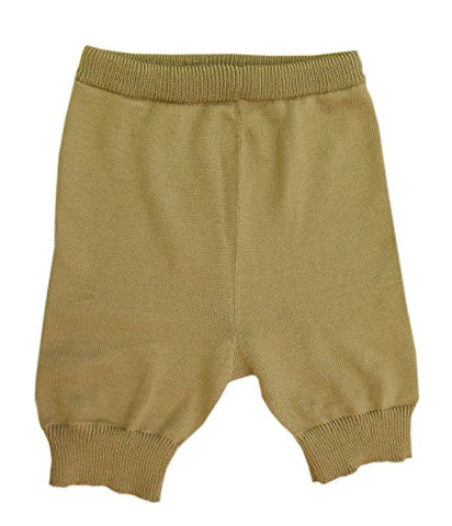 100% Merino Wool Adult Shorts Cloth Diaper Cover Soaker Knit Knitted Handmade (M, Brown)