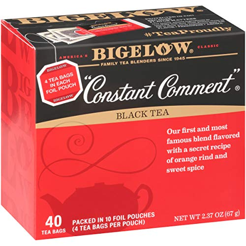 Bigelow Constant Comment Black Tea Bags, 40 Count Box (Pack of 6) Caffeinated Black Tea, 240 Tea Bags Total