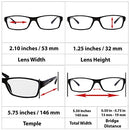 Image of Computer Reading Glasses 3.0 White 2 Pack for Men and Women Stylish Look and Crystal Clear Vision When You Need It! Comfort Spring Arms & Dura-Tight Screws