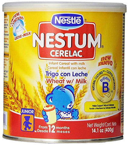 Nestle Cerelac Wheat with Milk Cereal, 14.10 Ounce (PACK - 6)