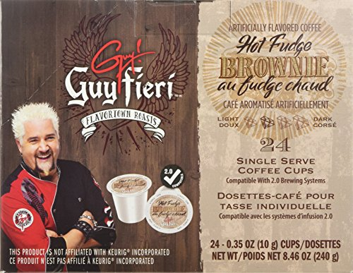 Guy Fieri Flavortown Roasts Coffee, Hot Fudge Brownie, 8.4 oz, 24 Count