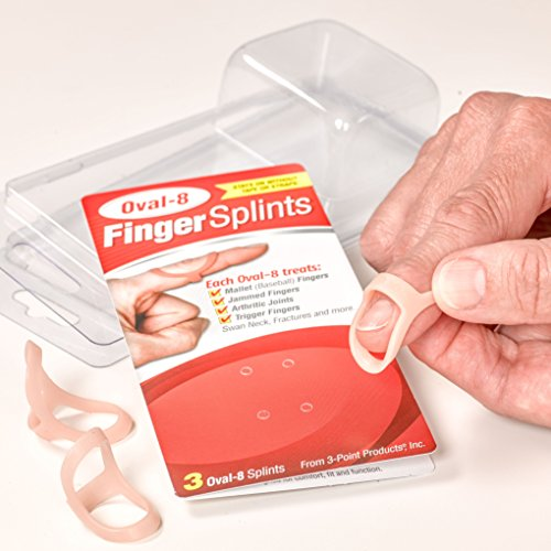 Oval-8 Finger Splint Graduated Set - Sizes 8, 9, 10