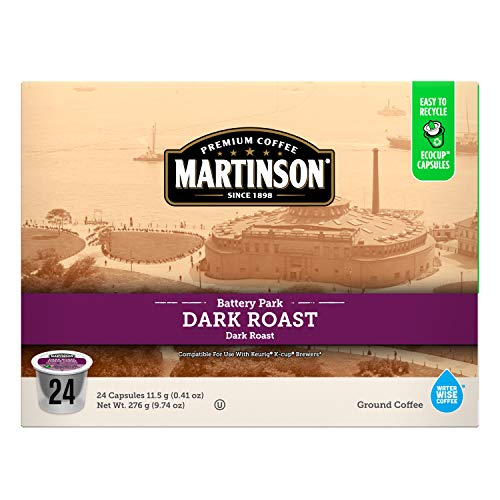 Martinson Single Serve Coffee Capsules, Dark Roast, Compatible with Keurig K-Cup Brewers, 48 Count