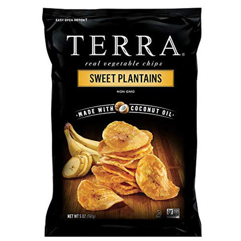 Terra Sweet Plantains Chips, 5 Oz (Pack of 12)