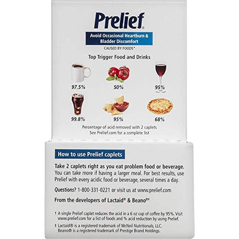 Prelief Dietary Suppliment Tablets, 120 Tabs (Pack of 2)